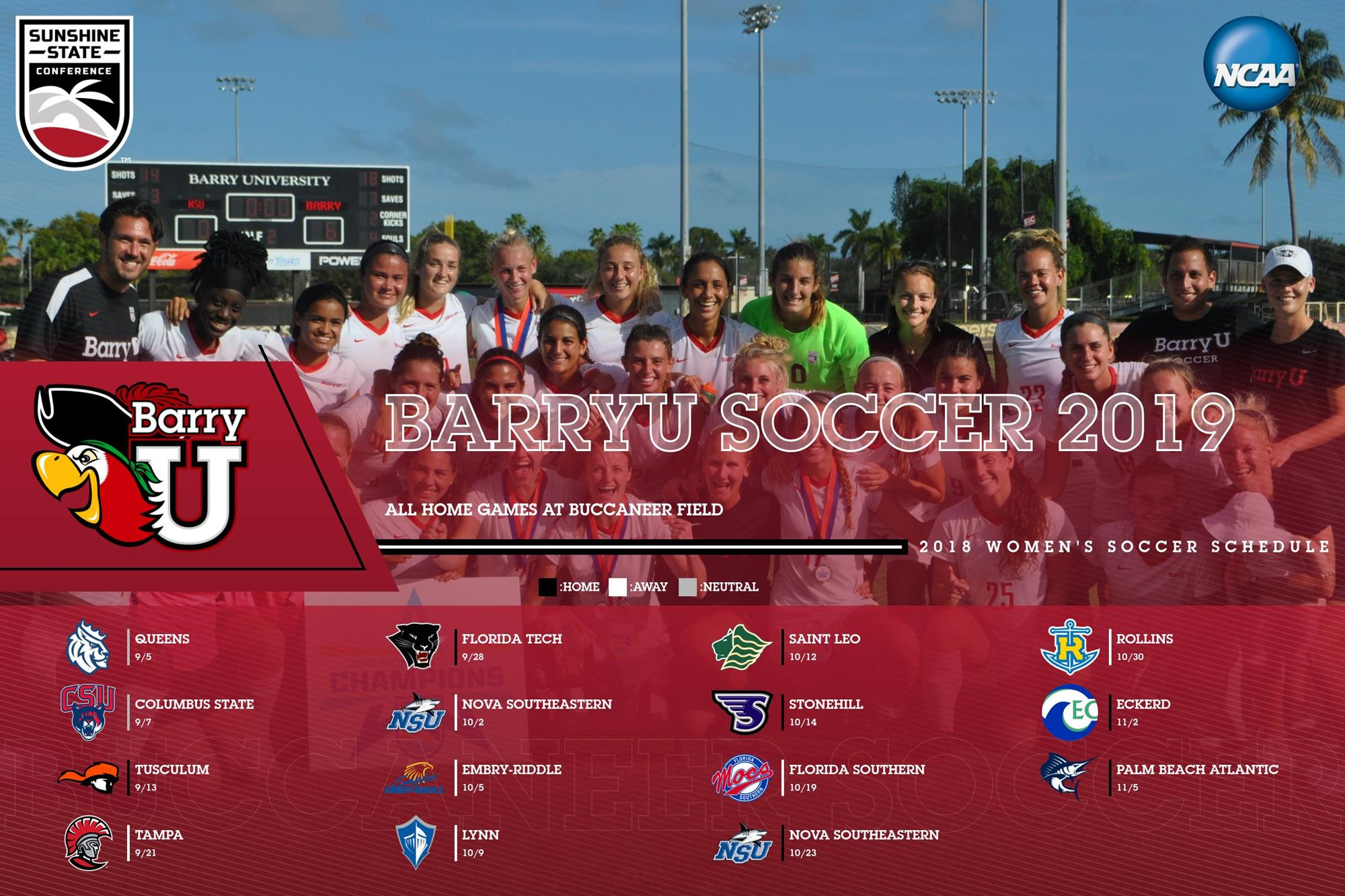 765da13a Women's Soccer Schedule For 2019 Released - Barry University Athletics